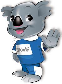 bloubi - mascotte enfants hotel plein sud hyeres