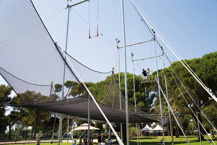 trapeze volant - activite hotel plein sud